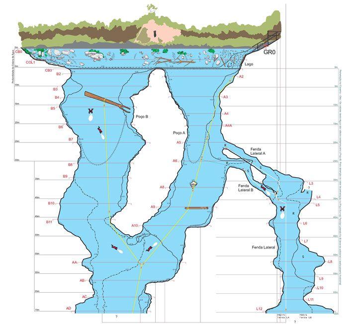 Mapa Lagoa Misteriosa